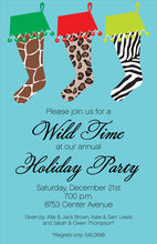 Wild Stockings Invitation