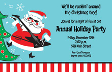 Rockin Santa Invitation