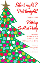 Dotty Christmas Tree Invitations