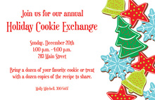Decorated Cookies Holiday Invitations