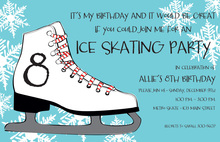 Sweet Skate Winter Party Invitations