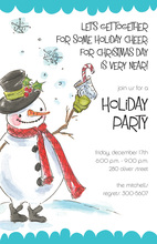 Snowman Cheer Invitation