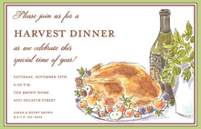 Turkey Table Invitation