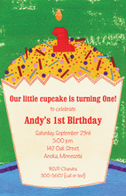 Sprinkle First Cupcake Invitations