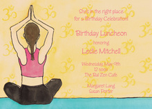 Traditional Peaceful Yoga Invitation