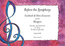 Music Treble Clef Sign Invitation