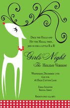 Modern Holiday Diva Deer Invitation