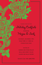 Modern Bright Green Floral Invitation