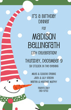Hello Snowman Invitations