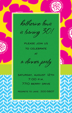 Bright Poppy Border Invitations