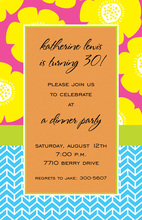 Modern Yellow Poppy Party Invitations