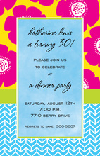 Pretty Pink Poppy Invitations