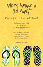 Wild Flip-Flops Beach Invitations