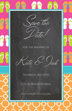 Flip-Flops Mixed Beach Invitations