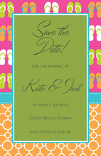 Beach Time Party Invitations