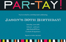 Announcing Party Celebration Invitations