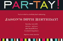 Holiday Party Celebration Invitations