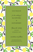 Bright Vines Border Invitations
