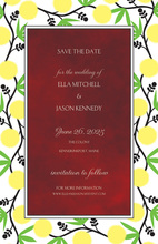 Elegant Vines Border Invitations