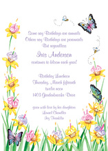 Cupcake Flower And Butterflies Invitation