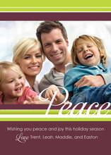 Lovely Peace In White Photo Cards