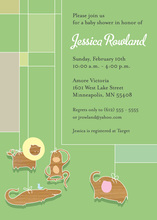 Jungle Animal Mobile Invitation