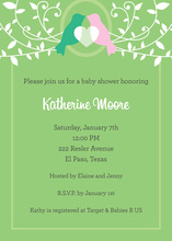 Love Birds Sweet Vines Invitation