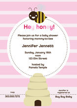Pink Mom-to-bee Invitation