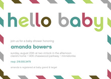 Fantastic Hello Baby Envelope Style Invitation