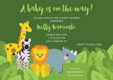 Popular Animal Jungle Friends Invitation