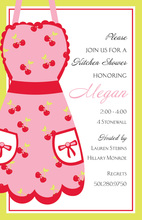 Classy Cherries Apron Kitchen Invitations