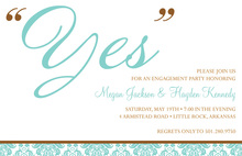 YES Engagement Shower Invitations