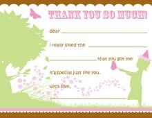 Very First in Pink Kids Fill-in Thank You Cards