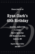 40th Black Milestone Birthday Invitations