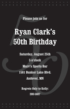 50th Black Milestone Birthday Invitations