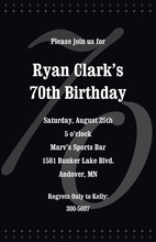 70th Black Milestone Birthday Invitations