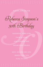 30th Pink Milestone Birthday Invitations