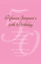 50th Pink Milestone Birthday Invitations
