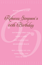 60th Pink Milestone Birthday Invitations