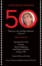 Turning 50 Birthday Photo Cards