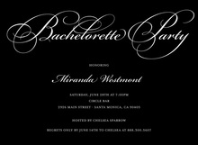 Bachelorette Party Script Trendy Black Invitations