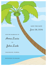 Tropical Save the Date Invitation