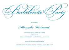 Bachelorette Party Script Trendy Teal Invitations