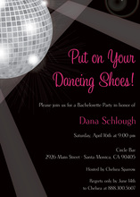 Disco Ball Dance Party Invitations