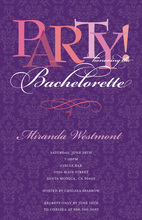Script in Deep Violet Party Invitations