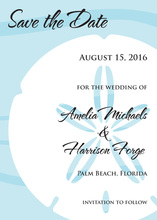 Bold Sand Dollar Blue Invitation