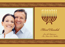 Blessed Traditional Chanukah Photo Cards