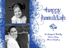 Quirky Happy Hanukkah Holiday Photo Cards