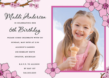 Preppy Pink Dainty Flower Photo Cards