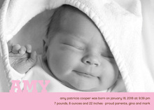 Simple Name Baby Girl Photo Cards